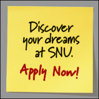 Discover your dreams at SNU.  Apply Now!
